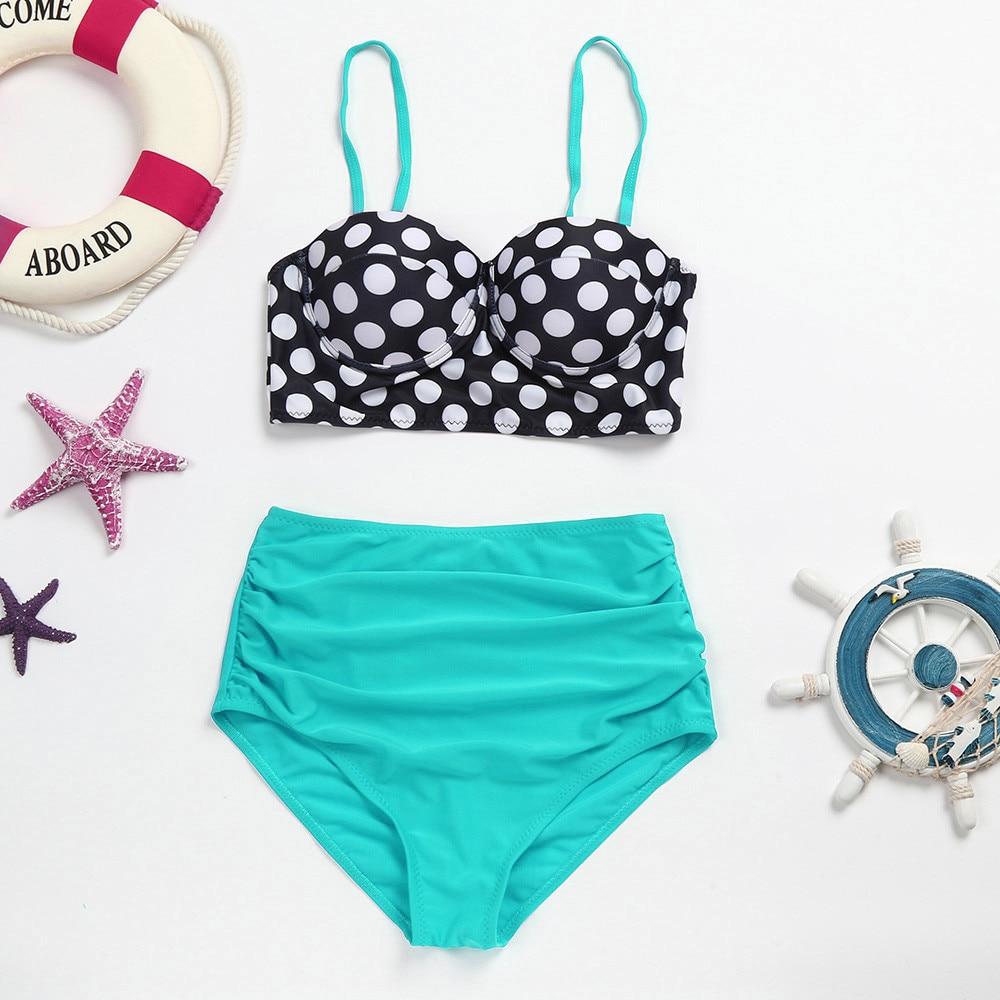 bikini 2018 Women Vintage Bikinis Bathing Suits Retro Halter Underwired bathing suit women two-piece suits sexy bikini set #25