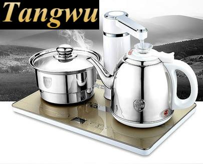 Overheat Protection Automatic upper water electric kettle pump 304 stainless steel tea set Anti-dry Protection automatic upper water electric kettle pump 304 stainless steel tea set