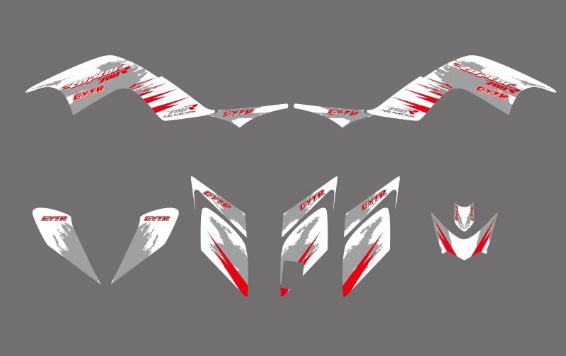 New STYLE TEAM DECALS STICKERS Graphics Kits For Yamaha YFM700 RAPTOR 700 ATV 2006 2007 2008 2009 2010 2011 2012