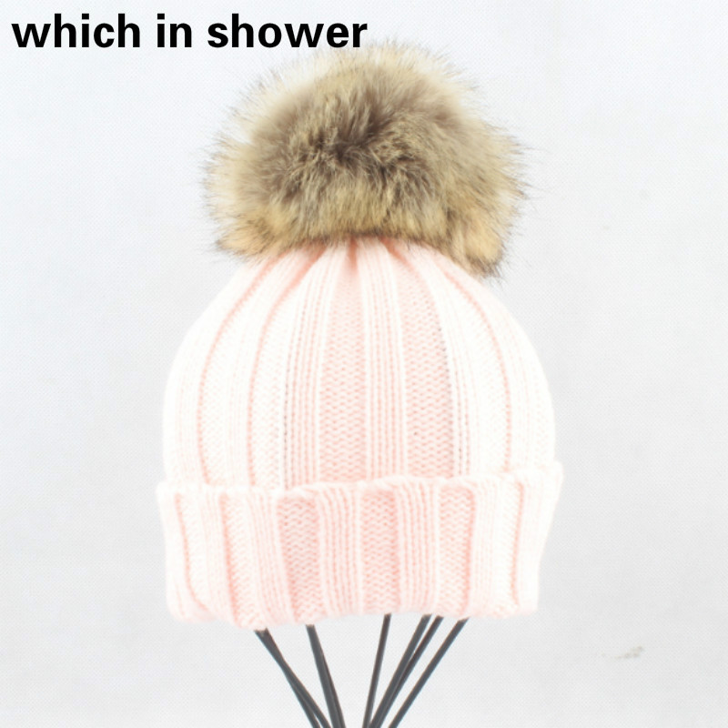 4db58ea9b Faux Rabbit Fur Pompom Winter Cap Womans Pom Pom Hat Beanie Women Girl Fur  Pompon Knitted Skullies Beanie Children Pompon Bonnet