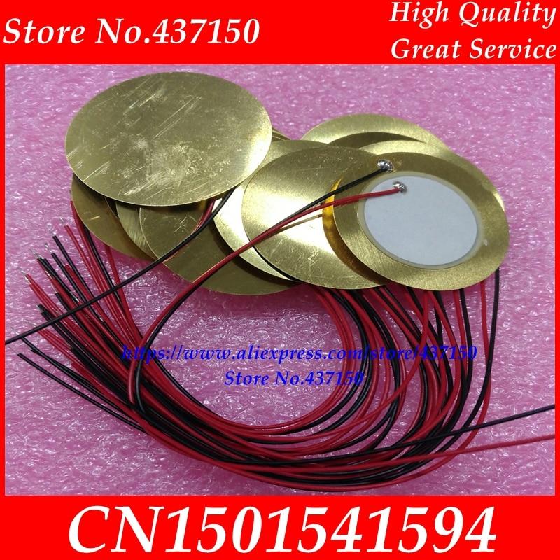 10PCS/LOT , 35mm Piezo Ceramic Element with cable length 15cm free shipping SS-10 пилочка для ногтей leslie store 10 4sides 10pcs lot