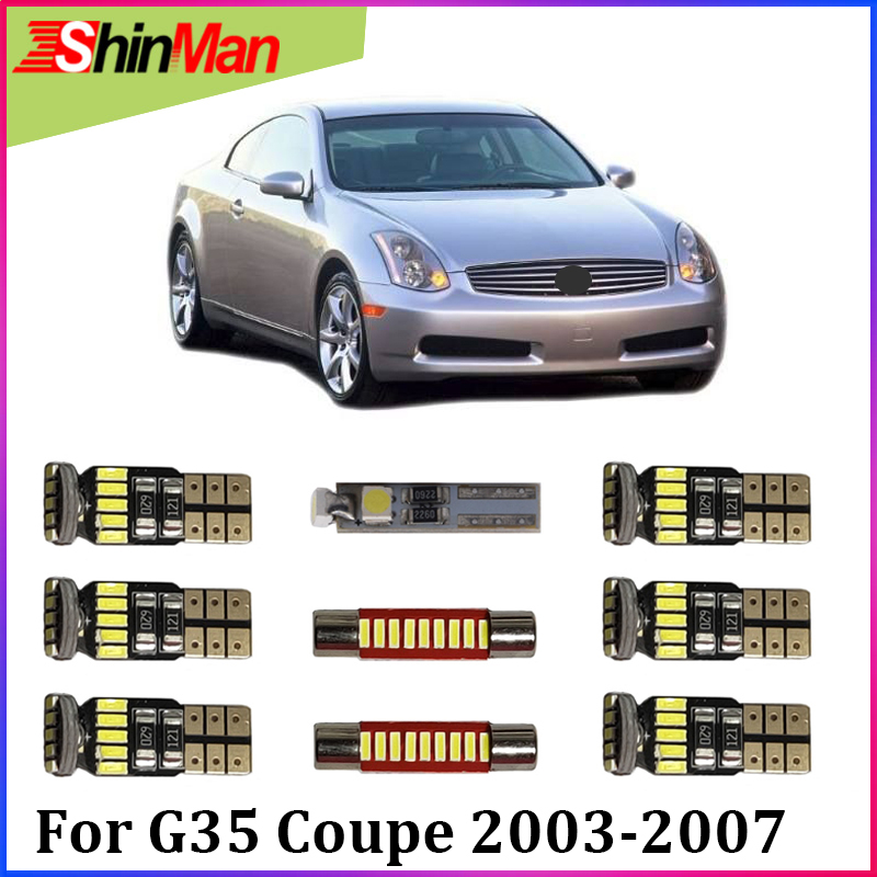 Shinman 10x Error Free Led Car Light Interior Conversion Kit For Infiniti G35 Coupe Package 2003 2007