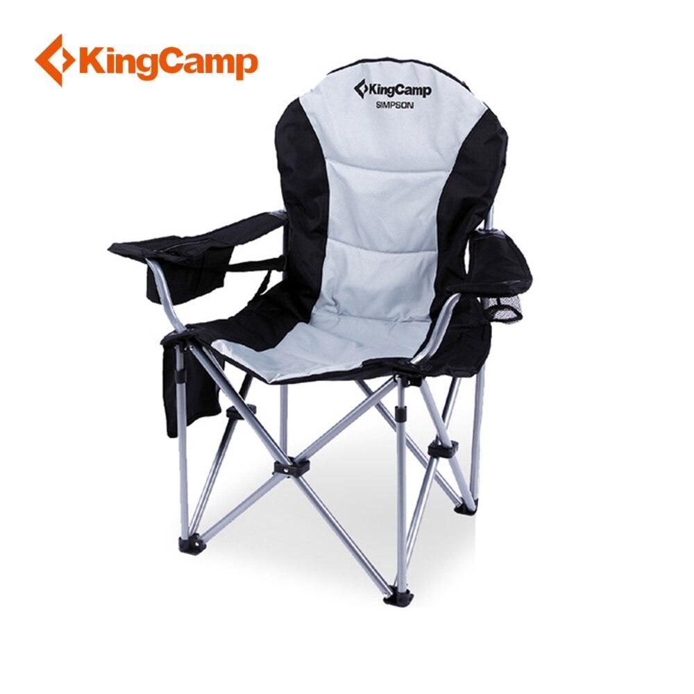 KingCamp Leggero Sgabello Pieghevole Sgabello Da Pesca Sedile di Campeggio Portatile di Supporto Lombare Forte Stabile Pesante Sedia Da Campeggio per Outdoor Fi