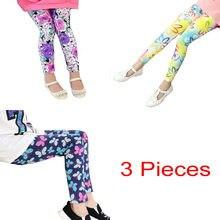 a68aa40aa47b 3 piunids lote venta al por menor bebé niña hermosa flor imprimir polainas  ropa barata china envío gratis