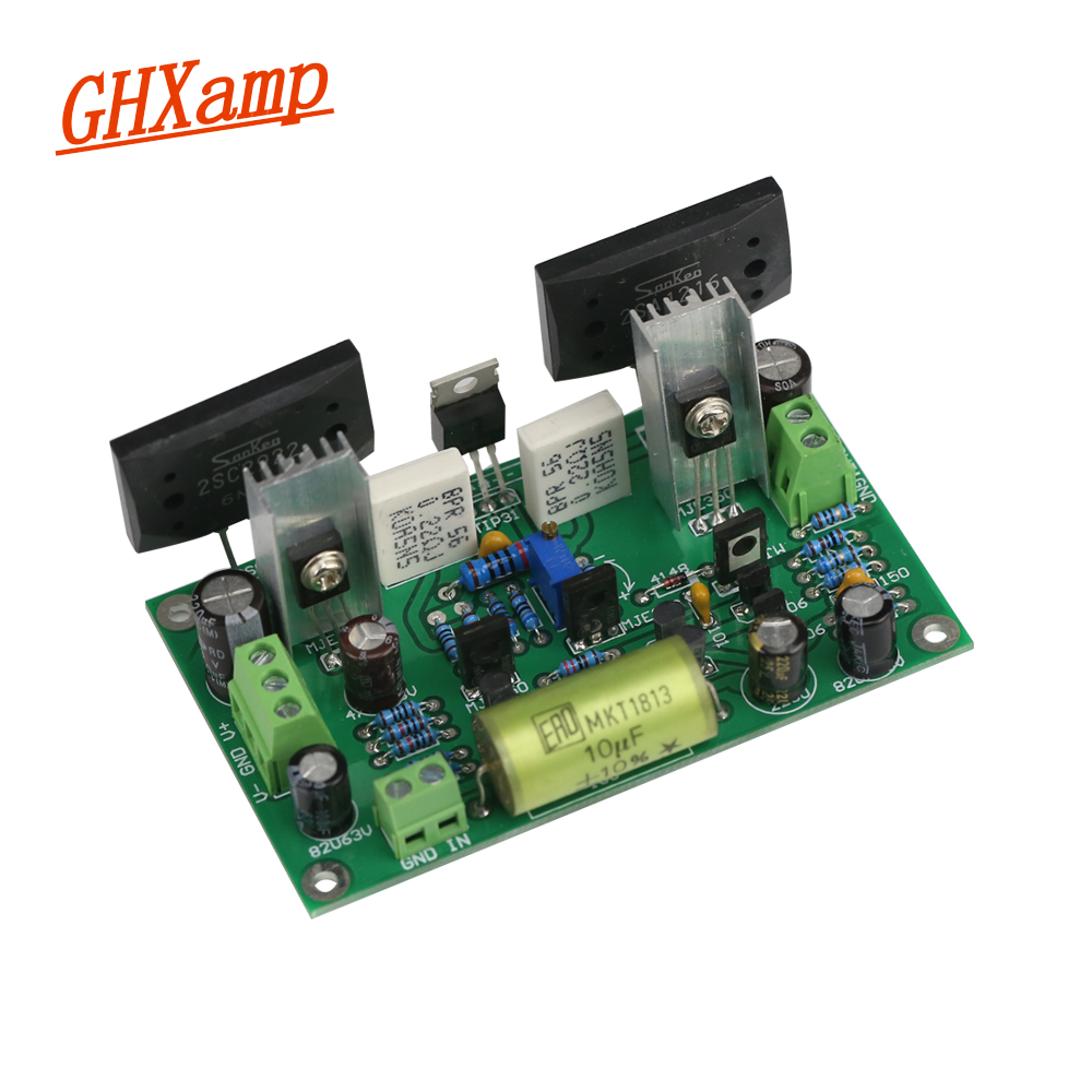 Ghxamp HIFI Classic Discrete Fever Amplifier Board Audio AMP 35V/us By Audio Power Design Manual 2SC2922 Dual 24V-Dual 50V classic board 78 w dual