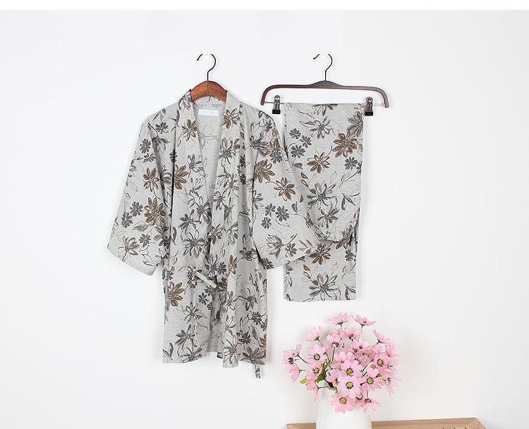7df0ca1f6e Sping cotton japanese pajamas Womens kimono pajamas sets pyjamas ...
