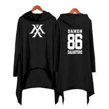 Drop shopping Monsta x dress fashion 2019 women Hooded sweatshirt Womens Clothing kpop clothes pullover
