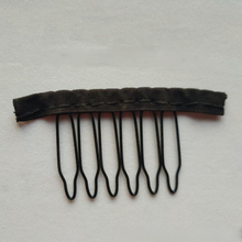 hot deal buy  black cloth wig combs 6 teeth hair wig clips for full lace wig cap wig accessories 20-40 pcs/lot