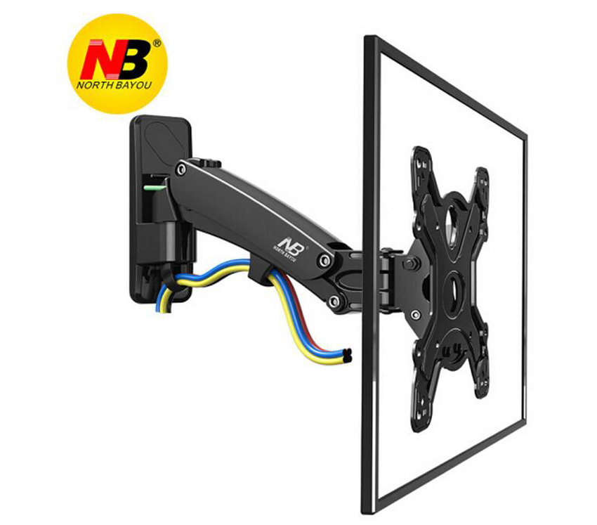 NB F350 30 50 retractable air press gas strut VESA400X400 16kg tilt aluminum swivel LCD tv bracket lcd wall mount stand holder