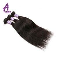 Brut Indien Cheveux Raides 3 Bundles Offre de Cheveux Humains Weave Bundles Non-Remy Cheveux Extensions Naturel Couleur Alimice Cheveux tissage
