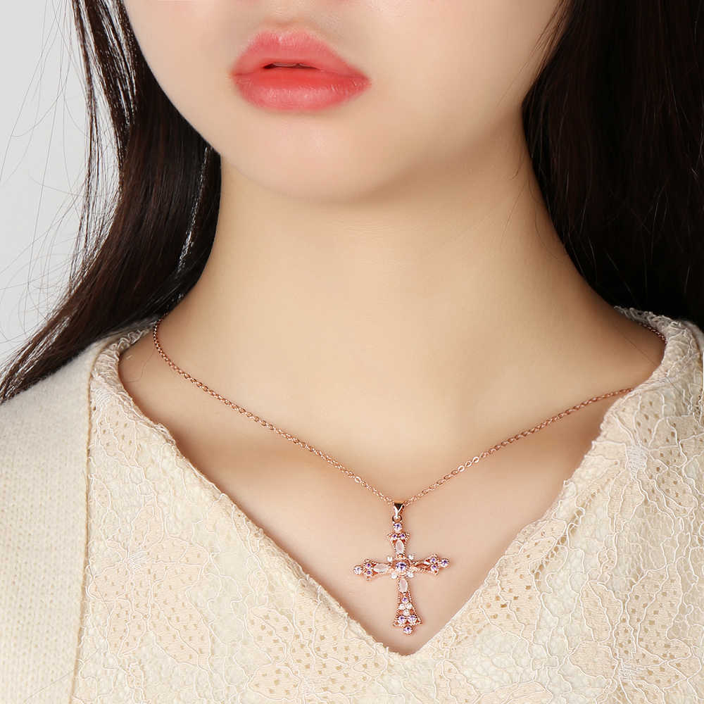 1 satz Gott Wir Vertrauen Kreuz Anhänger Halskette & Baumeln Ohrringe Mit Zirkon Jesus Weihnachten Halsketten Strass-Schmuck-Set Neue