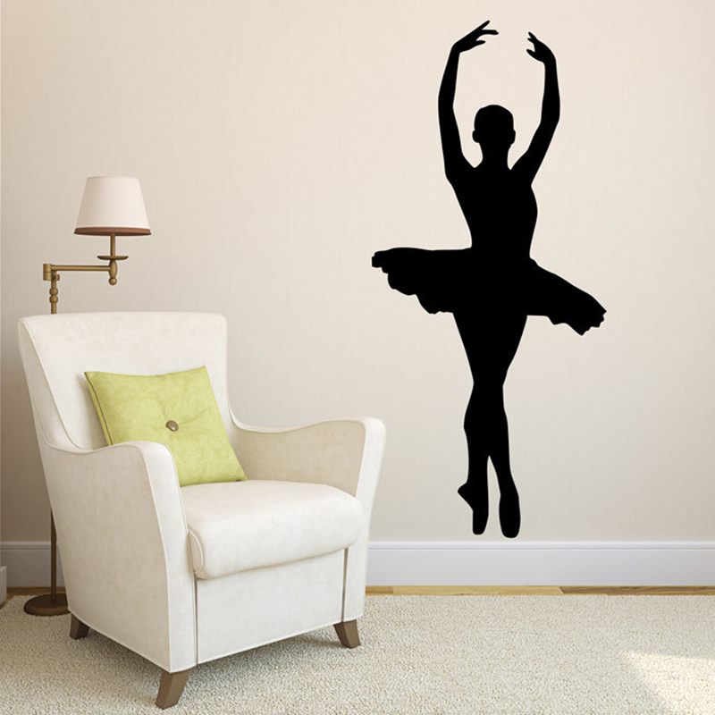 Dance Wall Stickers Ballet Shoes For Girls Bedroom Dance School Art Mural Home Decor Vinyl Self Adhesive Decal Clear-Cut Texture Wall Stickers