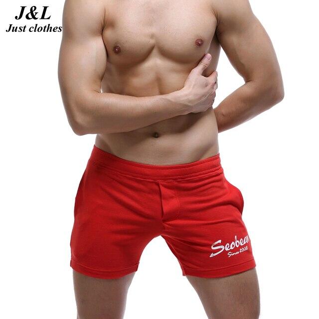 Hot Sales! Sexy Men's Shorts Brand New Jogger Shorts Summer Elastic Cotton Bodybuilding Boardshorts Bermudas 5 Styles Homewear