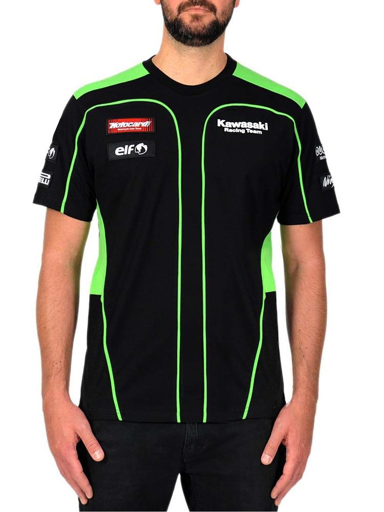 MOTO สำหรับ Kawasaki เสื้อยืดขี่รถจักรยานยนต์ทีมแข่งกีฬาผู้ชายเสื้อยืดคลาสสิก