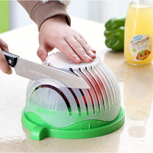 60 Second Salad Maker Bowl Fruit Vegetable Tools Easy Salad Cutter Bowl Quick Washer Chopper Tools