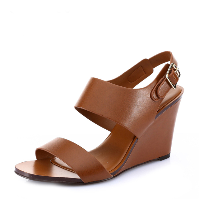 ed9165fa3692 Charles keith women s spring and summer shoes wide wedges sandals  ck1-80330015