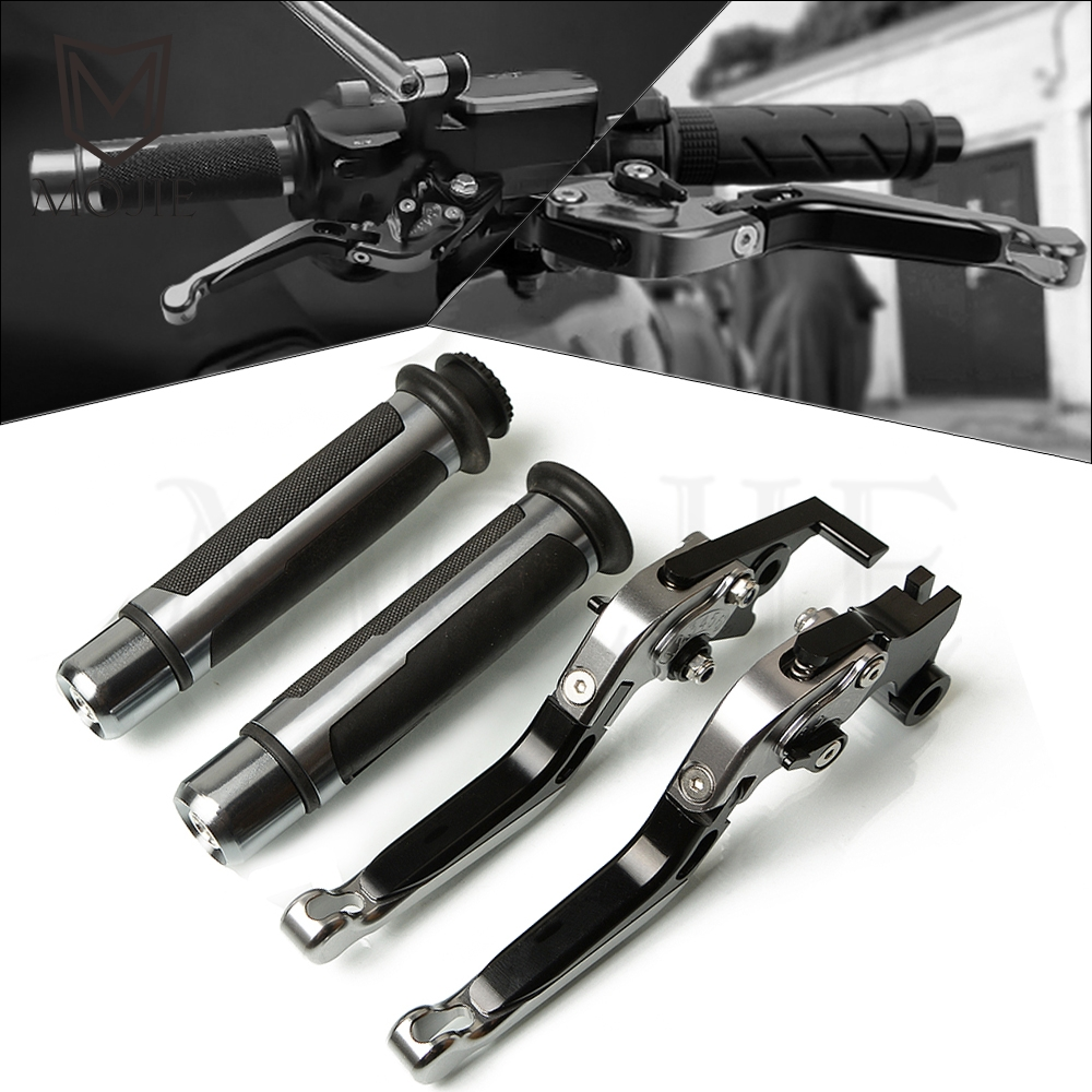 For Suzuki SFV650 GLADIUS SV650 TL1000S DL650/V STROM Motorcycle CNC Adjustable Folding Brake Clutch Levers Handlebar Hand Grips-in Levers, Ropes & Cables from Automobiles & Motorcycles    1