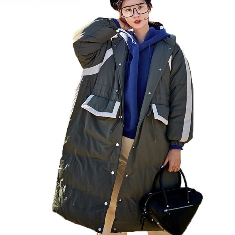 Parkas Forceful Loose Thicker Casual Plus Size Vinatge Pocket Patchwork Long Parka Korean Winter Coat Women Warm Cotton Padded Jacket L030 A Complete Range Of Specifications