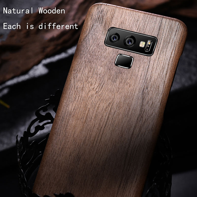 Natural Wooden phone case FOR Samsung galaxy note 9 note9 case cover bamboo/Walnut/Rosewood/Black ice wood/ shell (Real wood)