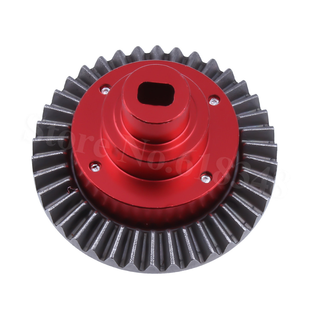 Metal Aluminum Alloy Connect Box w/Gear 38T 180009 (18009) HSP Pangolin 94180 Upgrade Parts For 1/10 4WD RC Crawler Models Car 2pcs metal differential driving gear 38t
