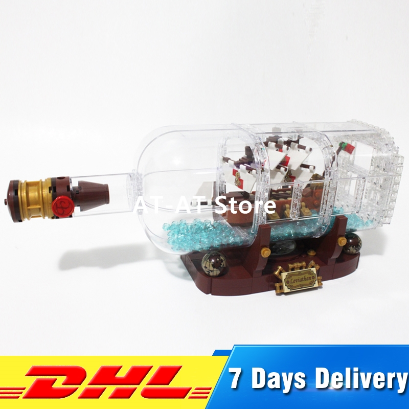 2018 IN STOCK Lepin 16051 1078Pcs Movie Series The 21313 Ship in a Bottle Set Building Blocks Bricks Funny Toys Kid Gifts lepin 16051 toys 1078pcs ship in a bottle legoingly 21313 sets building nano blocks bricks funny toys for kids birthday gifts