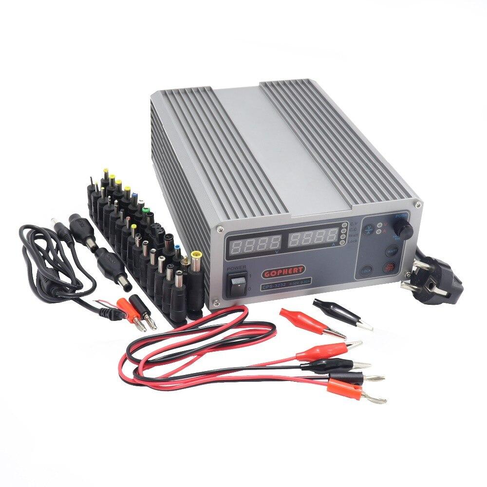 CPS 3232 haute efficacité Compact réglable numérique DC alimentation à découpage 32V 32A OVP/OCP/OTP alimentation à découpage + D