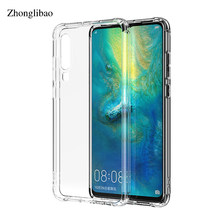 Soft Airbag Silicone Case for Huawei P30 Mate 20 P20 Pro Lite Nova 3e 3i 4 Y6 Y7 Prime 2018 P Smart 2019 Clear TPU Bumper Cover(China)