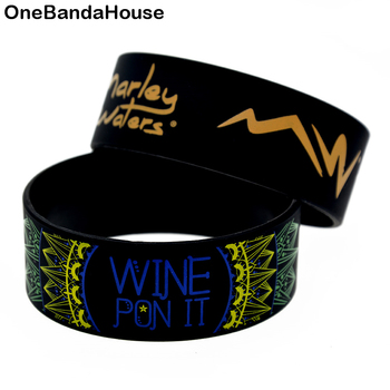 OneBandaHouse Bulk Cheap Silicone Rubber Bangle for Custom Design 1 Inch Wide Wristband