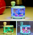 Free shipping USB Fish Tank Humidifier Household Ultrasonic Air humidifier Air Purifier With LED Night Light