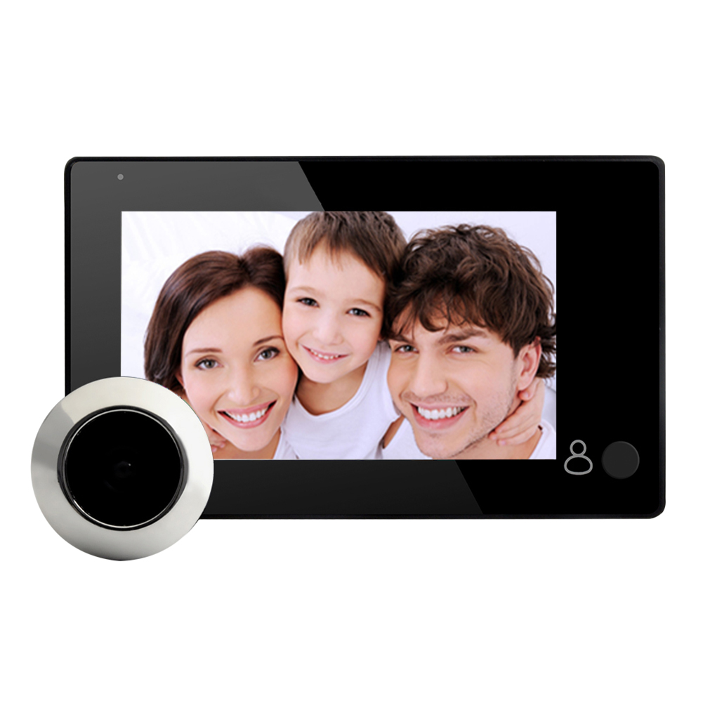 4.3inch Color LCD Digital Video Door Viewer Peephole Camera Smart Electronic Doorbell Door Eye Video Record for Home Office 3 0inch digital lcd peephole viewer eye doorbell color hd digital screen eye video record camera 145 degree night vision motion