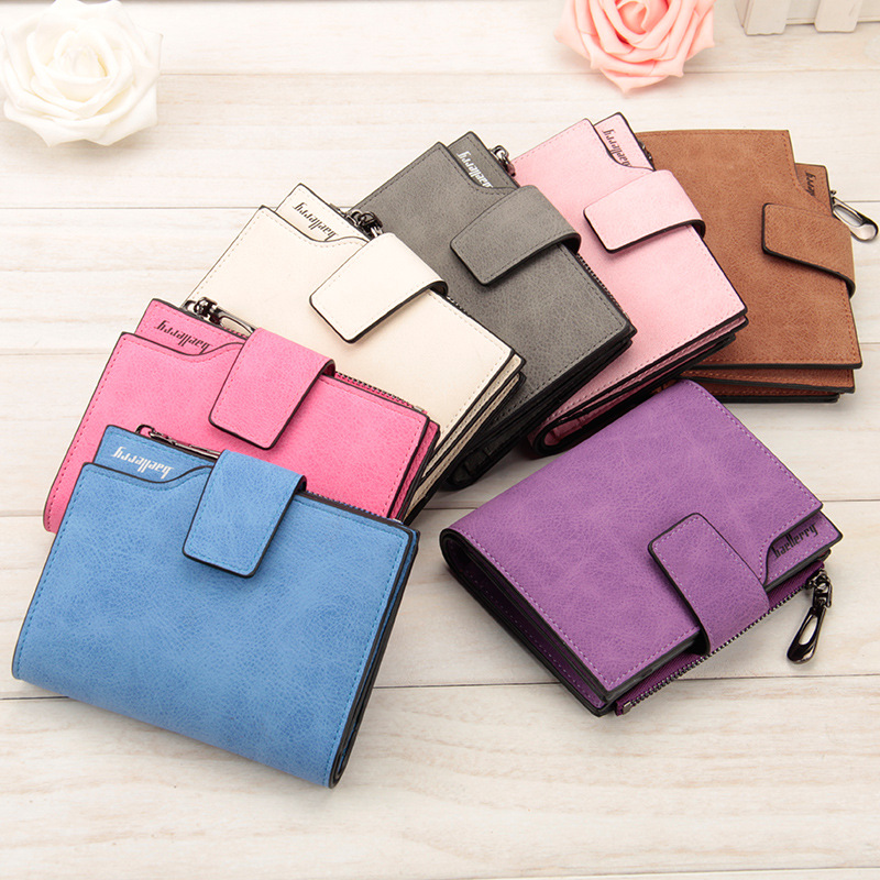 Retro Matte Women Wallet Hasp Zipper Wallets Small Female Coin Purse Leather Clutch Lady Money Pouch Bag Candy Color Card Holder lady fashion women bag purse clutch wallet short small bag card holder new money bag female high quality women s purse wallets