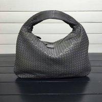 Комиссия Сумки овчины тканые модные сумки бренда из натуральной кожи ручной работы на молнии сумки на плечо большой Ёмкость сумки IS115653