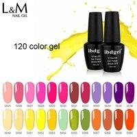 Ibggel Гель лак для ногтей весь набор 120 цветов высокий пигмент Гель лак для использования со светодиодной и УФ лампой гель для ногтей гель лак