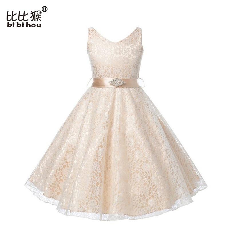 Retail Wedding Bridesmaid girl dress autumn butterfly Sequins Belt dresses girl clothes children baby girl dress kids
