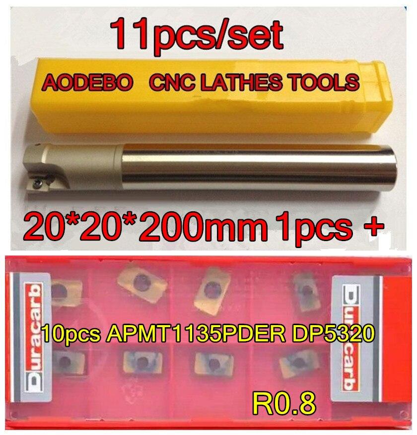20mm 11pcs set BAP300R20 20 200mm 2F CNC Milling cutter bar 1pcs 10pcs APMT1135PDER DP5320 Processing