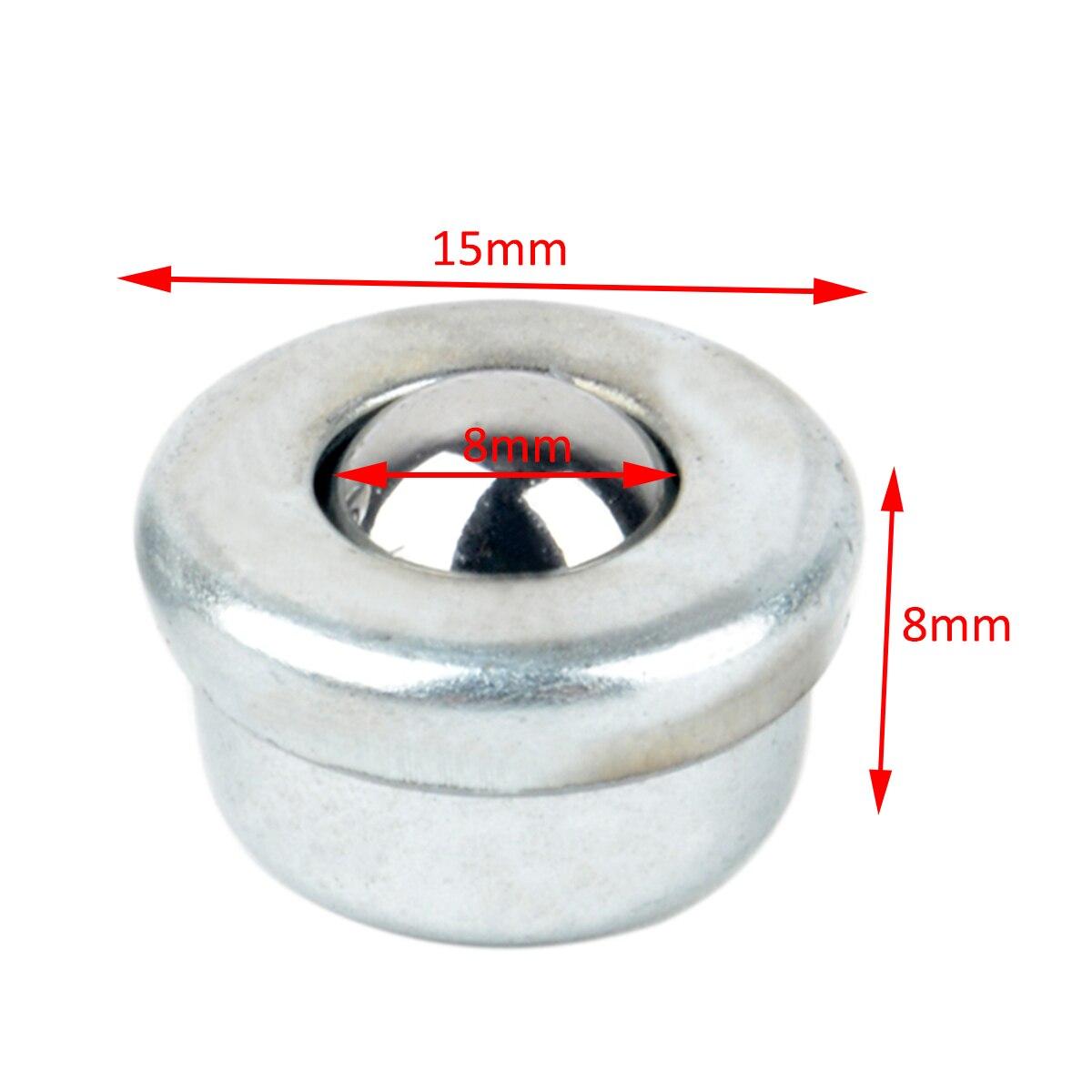 10 шт. металлический CY-8H 8 мм Серебряный мячик подшипник передачи блок конвейер роликовые колеса небольшой плоский круглый глаз колеса транспортировочный мяч