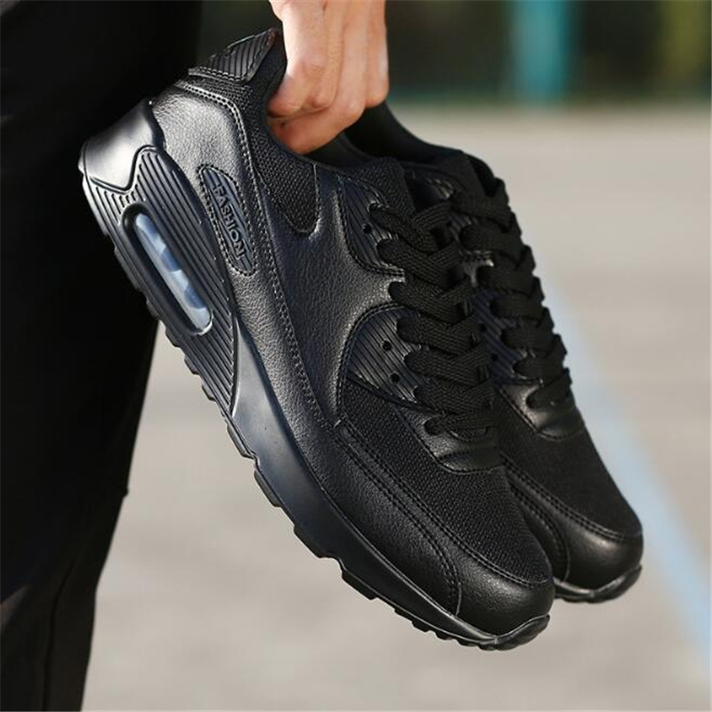 Men Air Cushion Shock Buffer Max Running Shoes Designer Platform Sneakers Women Outdoor Breathable Mesh Walking Sports Shoes 90