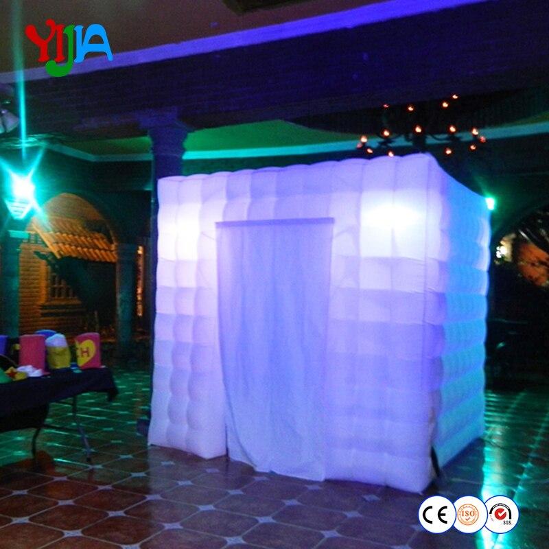 Livraison gratuite Meilleure qualité cabine gonflable Portative De photo de tente de cube pour la Fête