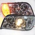 Для Mercedes-Benz w140 передний свет Хром Корпус с Corner light