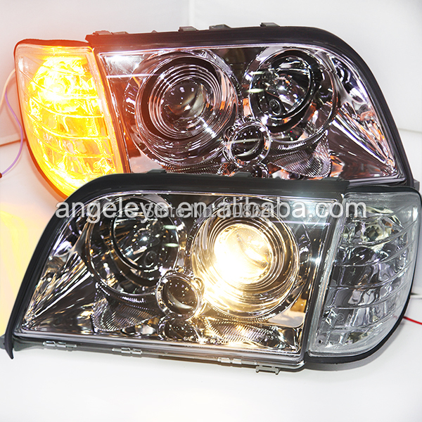 For Mercedes Benz w140 front light Chrome Housing with Corner light