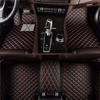 Flash mat leather car floor mats for Porsche all models 911 panamera cayman cayenne car accessories custom car carpet car pad