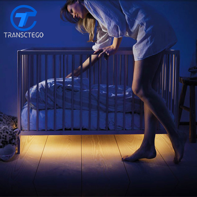 LED Strip Light Under Bed Motion Activated Lighting With