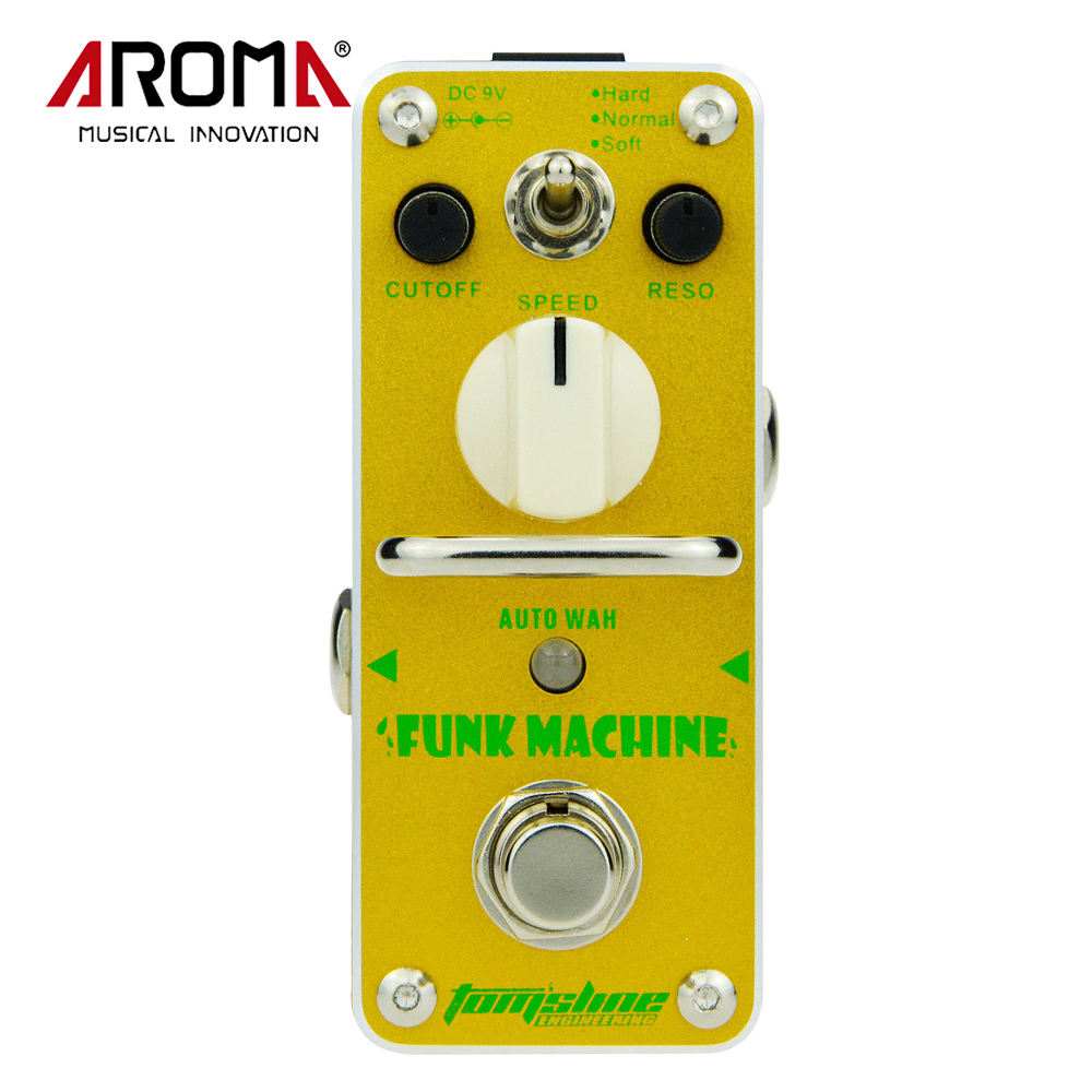 AROMA AFK-3 Funk Machine Auto Wah Electric Guitar Effect Pedal True Bypass Mini Single Effects sews aroma aov 3 ocean verb digital reverb electric guitar effect pedal mini single effect with true bypass