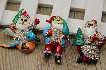 Christmas gift, Santa Claus alloy buttons 3style metal rhinestone button scrapbooking clothing diy Shoes headwear accessory
