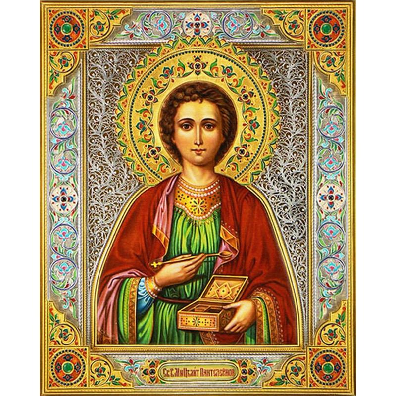 5D Diy Diamond Painting Religion Icon of prince Diamond Mosaic Needlework  Crafts Round Diamond Embroidery Cross Stitch 25*30cm