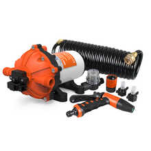 NEW SEAFLO 70 PSI On-Board Washdown Deck Pump Kit RV Boat Marine Agricultural 5.5 GPM Replace Jabsco Shurflo with Hose - DISCOUNT ITEM  0% OFF All Category