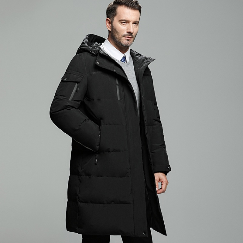 2019 Winter New Extra Long   Down     Coat   For Men Thick Waterproof   Down   Parka Men Winter   Coat