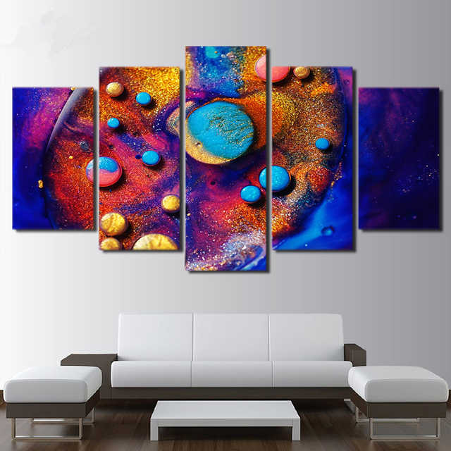 Framed Canvas HD Prints Pictures Wall Art Colourful Poster 5 Pieces ...