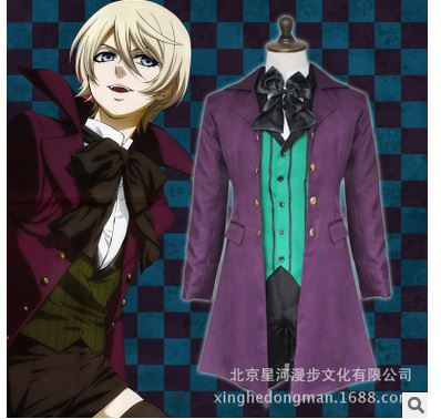 Black Butler Season 2 Earl Alois Trancy Cosplay Party Anime Cosplay Costume Clothes Dress Set Full Set 5/lot