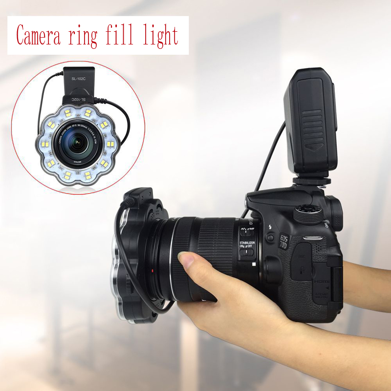 Camera LED fill light ring flash led photography SLR camera universal professional macro